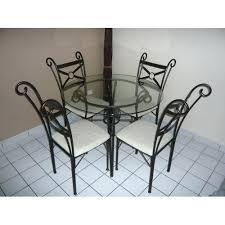 chaises fer forgac pas cher ordinaire table basse en verre et fer