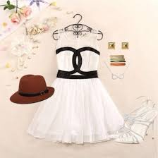 Dress Cute Girly White Black Pretty Vintage Retro Outfit Idea Ideas
