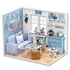 Diy Handcraft Miniature Doll House Kit My Little Boys Dollhouse