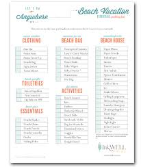 FREE Download For Beach Vacation Packing Checklist Includes Items You Need A House Rental And Activities