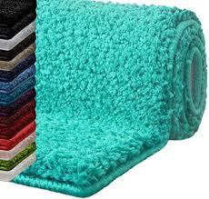 badematte hochflor sky soft weicher flauschiger badezimmerteppich in shaggy optik badvorleger rutschfest waschbar schadstoffgeprüft 16 farben