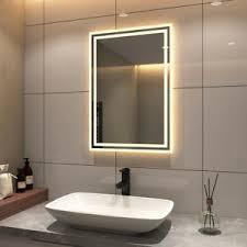 50x70 70x50 badspiegel led warmweiß 3000k badezimmer bad