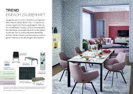 broschüre esszimmer trends schöner wohnen kollektion