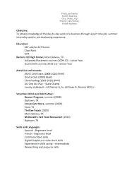 Example Resume High School Student Unusual Ideas Examples Curriculum Vitae Format For Students