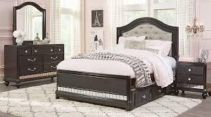 sofia vergara petit paris black 6 pc full panel bedroom teen