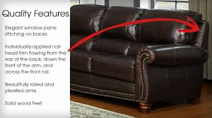 Chateau Dax Leather Sofa Macys by James Collection By Leather Italia Usa Youtube