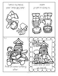 Two Nursery Rhymes Foldable Booklets Jack And Jill Baa Black Sheep In B W Children Cut Out Entire Page Fold As Directed Into Booklet Form