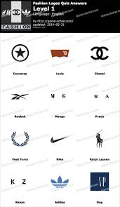 Fashion Logos Quiz Level 1