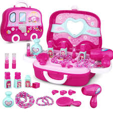 Girls Princess Pretend Makeup Toys Set Kids Cosmetic Eyeshadow Hair