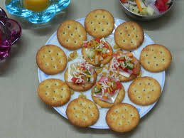 easy cheap canapes preethi bhojan easy peasy biscuit canape