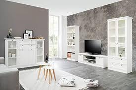 expendio wohnzimmer landström 151 weiß 4 teilig lowboard