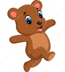 Illustration Of Cute Baby Bear Cartoon Stock Vector