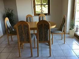 6 esszimmer stühle tisch schrank holz möbel wohnzimmer