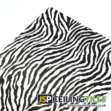 a suspended ceiling tile with a zebra print design from jsp
