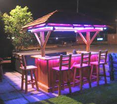 There Are Many Materials Used For Tiki Bar Furniture Such As Bamboo Wicker Tropical Plants Etc Cool Outdoor LED Lighting