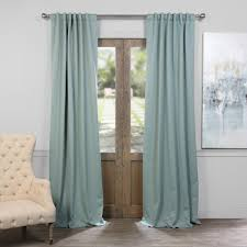 120 Inch Long Blackout Curtains by Teal And Brown Curtains Signature Aqua Mist Blue Grommet