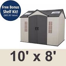 lifetime 60005 garden shed 10 x 8 on sale with fast free shipping