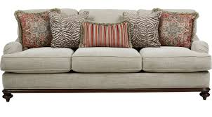 Cindy Crawford White Denim Sofa by Cindy Crawford Home Furniture Collection
