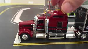 100 Toy Kenworth Trucks DCP 164 Scale W900 In Matchbox Car City Red Stretch Pulling A 53 Trailer