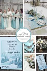 Aqua Winter Wonderland Wedding Invitations