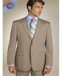Mens 2 Button Classic Fit Suit In Mocha Coffee Color