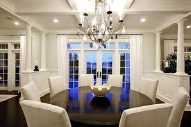 Round Dining Room Table Seats 8 Perfect Gypsum Ceiling With Glossy Wooden And White