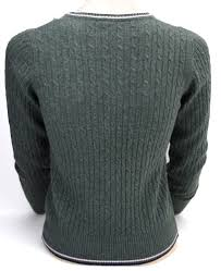 fred perry junior v neck sweater dark green code 7452 without tag