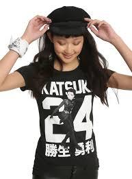 yuri on ice katsuki 24 girls t shirt topic