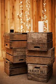 Budget Friendly Barn Wedding Decorations With Wooden Crates