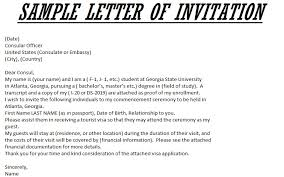 Invitation Letter For Us Visitor Visa Template