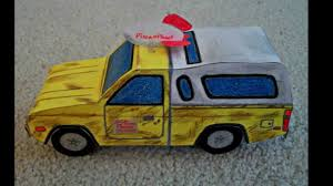 Paper Model Of The Pizza Planet Truck From The Movie