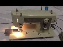 how to thread sears kenmore sewing machine 158 12270 158 youtube