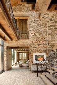 Modern Redesign Of Old Country Home With Antique Stone Walls And Exposed Ceiling Beams Rustic InteriorsModern InteriorsHouse InteriorsInterior