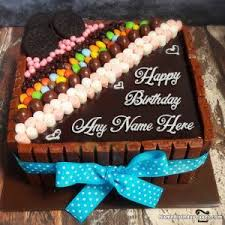 Happy Birthday Chocolate Cake With Name And