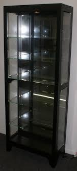 black onyx side door curio cabinet display cabinet by pulaski