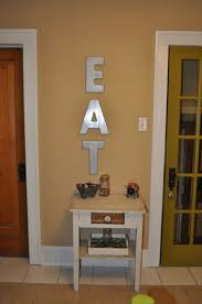 Wood Letters Spray Paint Kitchen Decor DIY