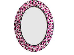 trendy idea pink wall mirror uk princess framed flamingo bathroom