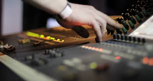 Audio Mixer Panel Concole Control Volume Level Record Professional Media Technology Mixing Equipment Digital Music Studio Dj Radio Club Producer Channel
