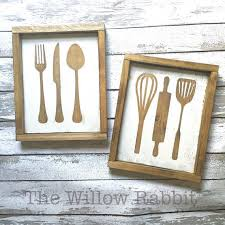 Set Of 2 Kitchen Utensil Wood Signs By TheWillowRabbit On Etsy