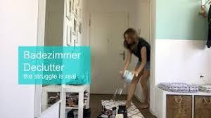 badezimmer declutter ausmisten konmari methode vlog