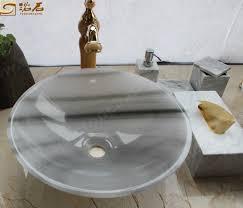 white marble badezimmer runde waschbecken niedriger