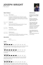 Farm Hand Resume Samples VisualCV Database Examples Ideas