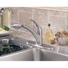 Fluid Faucets Single Lever by Delta Faucet 470 Arwe Dst Signature Arctic Stainless Pullout Spray