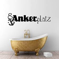 wandtattoo ankerplatz anker maritim zuhause badezimmerdeko badezimmerwandsticker wandtattoo badezimmer m984 m 60cm x21cm
