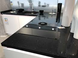 glitzer quarzstein kuechenarbeitsplatte farbe black