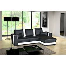 canape angle noir convertible canapé d angle convertible pablo noir et blanc moderne et tendance