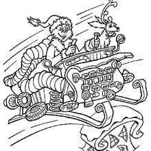 Grinch In Sleigh Coloring Page