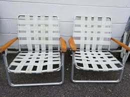 Vintage Aluminum Folding Webbed Lawn Chair Set Of 2 Camping Beach Height  White Two Vintage Alinum Webbed Folding Wood Handle Low Lawn Beach Chair Chaise Lounge In Supreme Allen Roth Outdoor Wooden Outdoor Chairs Shed Roof Building Patiolawnlouge Brown White Vtg Red Blue Child Kid Size Lot Chairs Camping Patio Tailgate With Webbing Web Usa Oversized Covered Vintage Lawn Deck Camping Chair Web Alinum Folding Webbed Patio 7 Positions Alinum Rocking Chair Pizzitalia Louge Green White