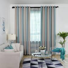 vorhang bunte streifen design für wohnzimmer