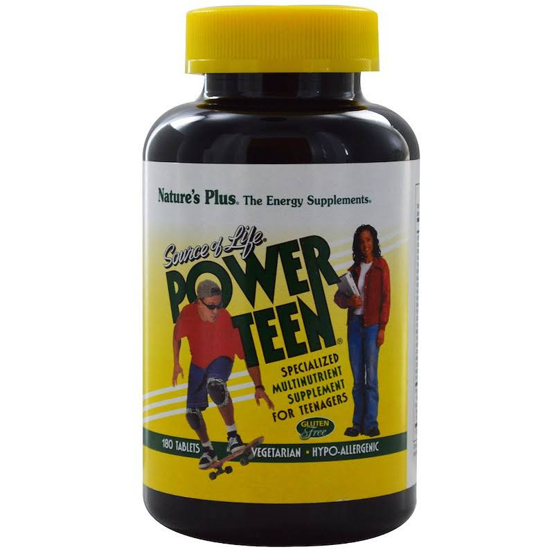 Nature's Plus Source of Life Power Teen 180 Tablets